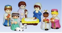 10 Piece Child Nativity Set