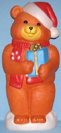 Brown Teddy Bear with Presents / General Foam