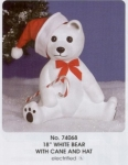 White Bear w/cane and hat / CChristmas / Union Plastics Products