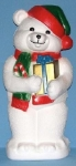 White Teddy Bear w/ Presents