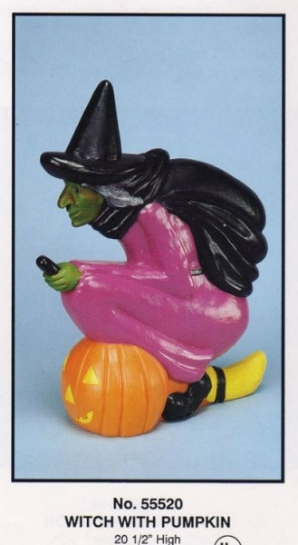 Witch with Pumpkin / Union Plastics Products / Halloween