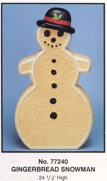 Gingerbread Snowman / Union Plastic Products / Christmas