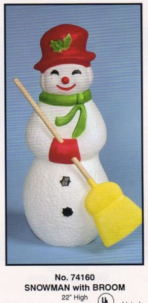 Snowman with Broom / Christmas / Union Plastic Products